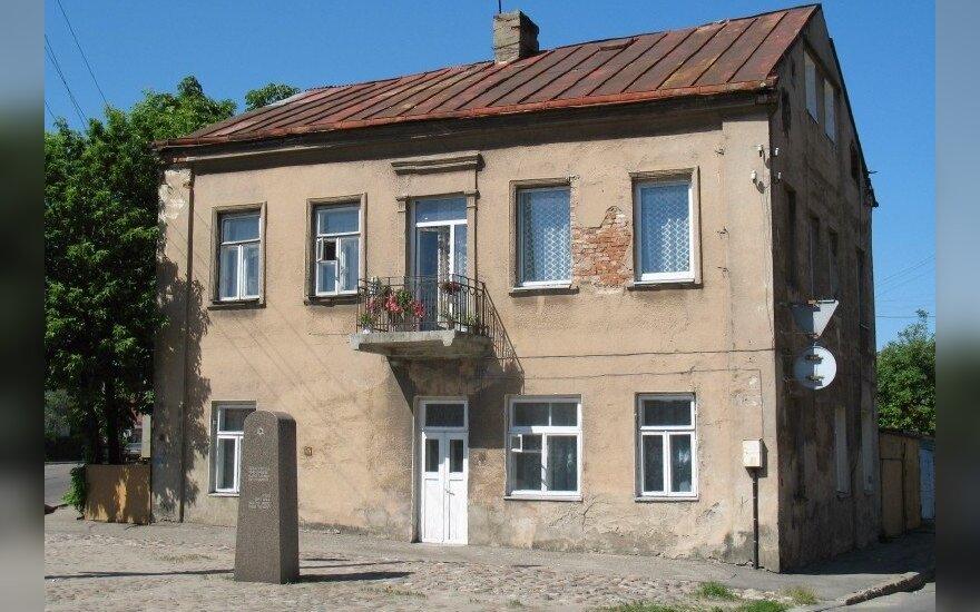 Namas Vilijampolėje, šalia kurio buvo pagrindiniai vartai į Kauno getą
