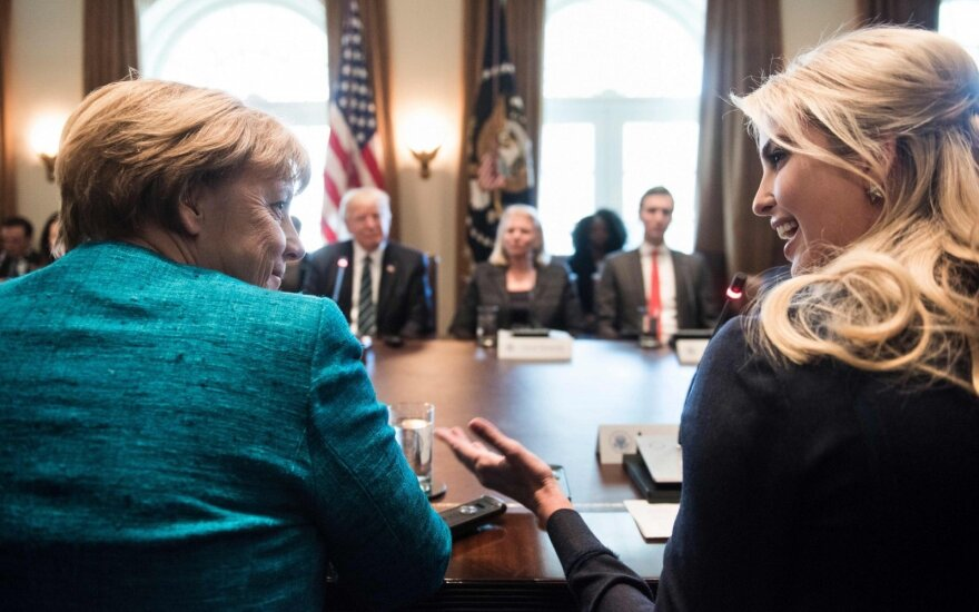 Angela Merkel, Ivanka Trump, Donaldas Trumpas