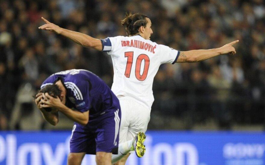 Ибрагимович забил четыре гола в матче Лиги чемпионов