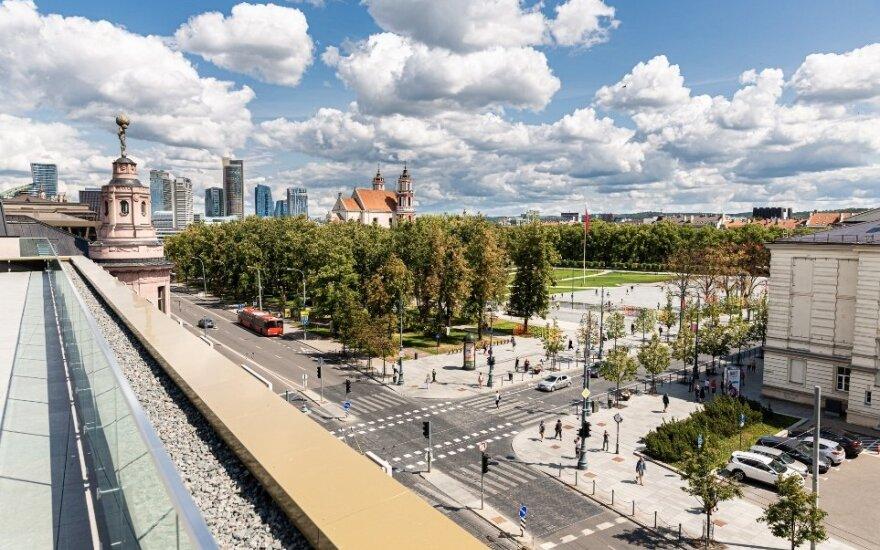 В центре Вильнюса открывается новое открытое для горожан пространство