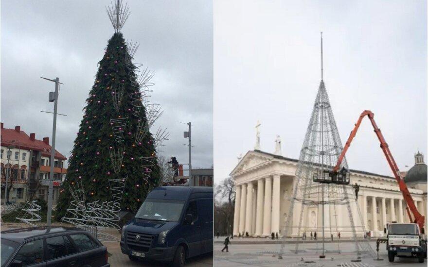 Panevėžys planuoja šiemet pelnytė gražiausios Kalėdų eglės pripažinimą