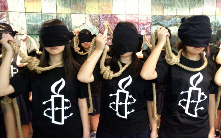 """Amnesty International"" protestuoja prieš mirties bausmę"