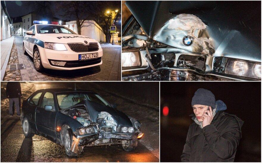 Нетрезвый 18-летний на окраине Вильнюса разбил чужой BMW