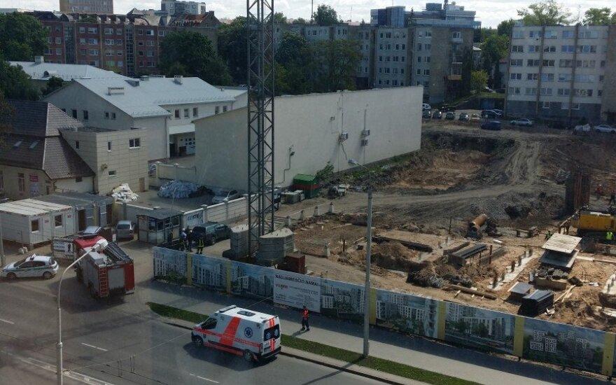 В Вильнюсе на стройке погиб рабочий