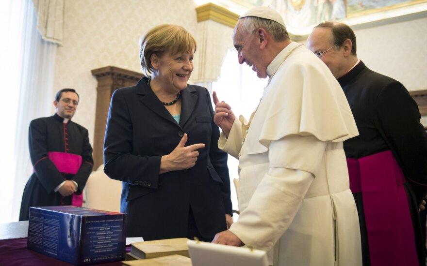 Angela Merkel, popiežius Pranciškus