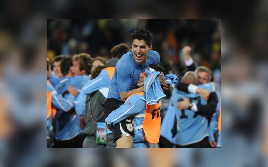Urugvajaus futbolininkai žais pusfinalyje