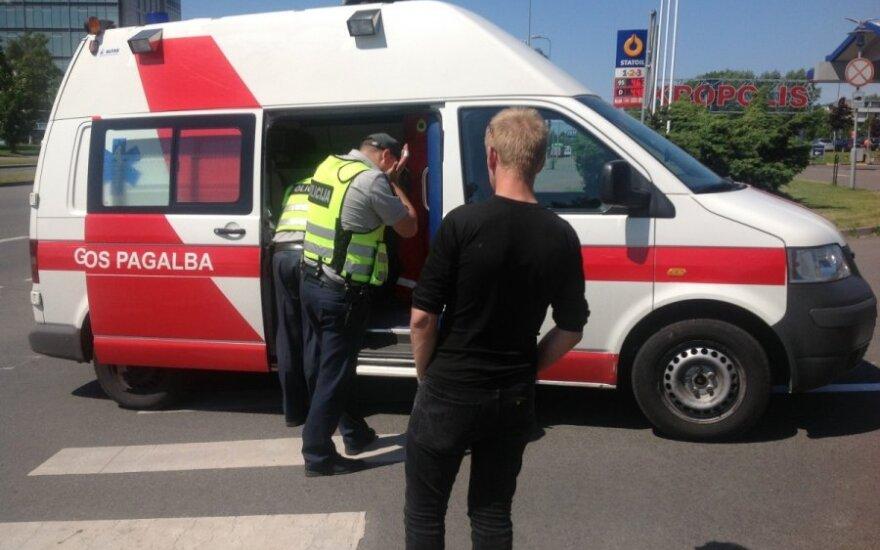 В Клайпеде пострадал полицейский