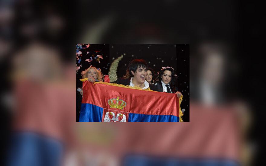 Eurovizijos 2007 nugalėtoja M.Serifovic
