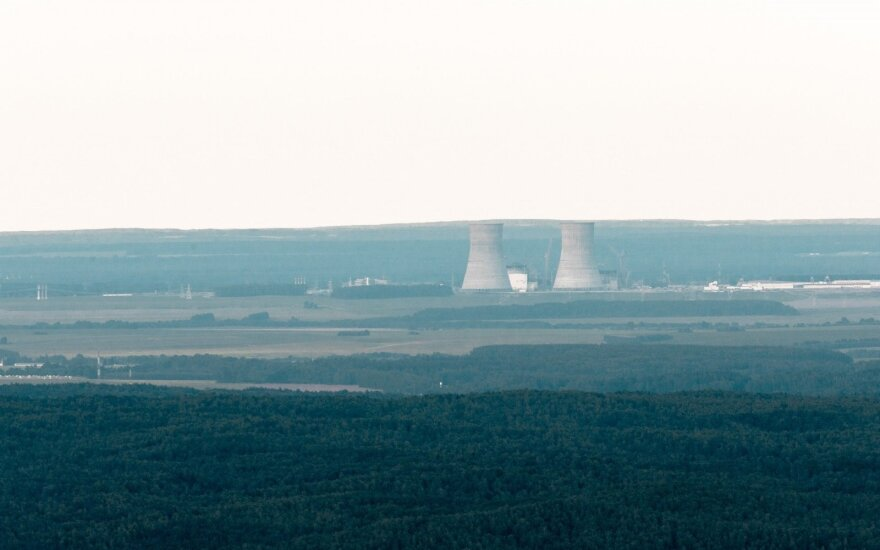Astravyets nuclear power plant under construction