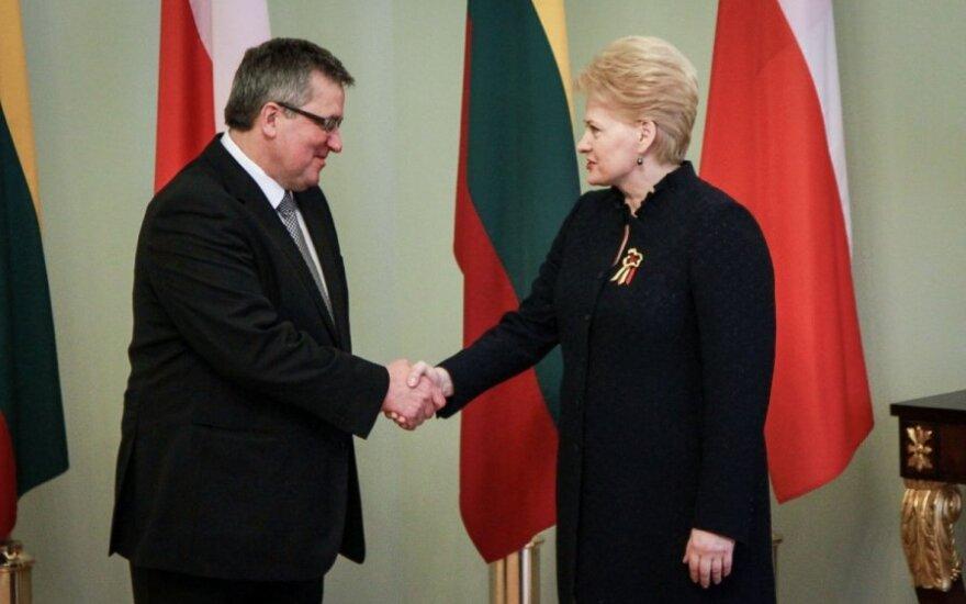 Bronisław Komorowski pogratulował zwycięstwa Dalii Grybauskaitė