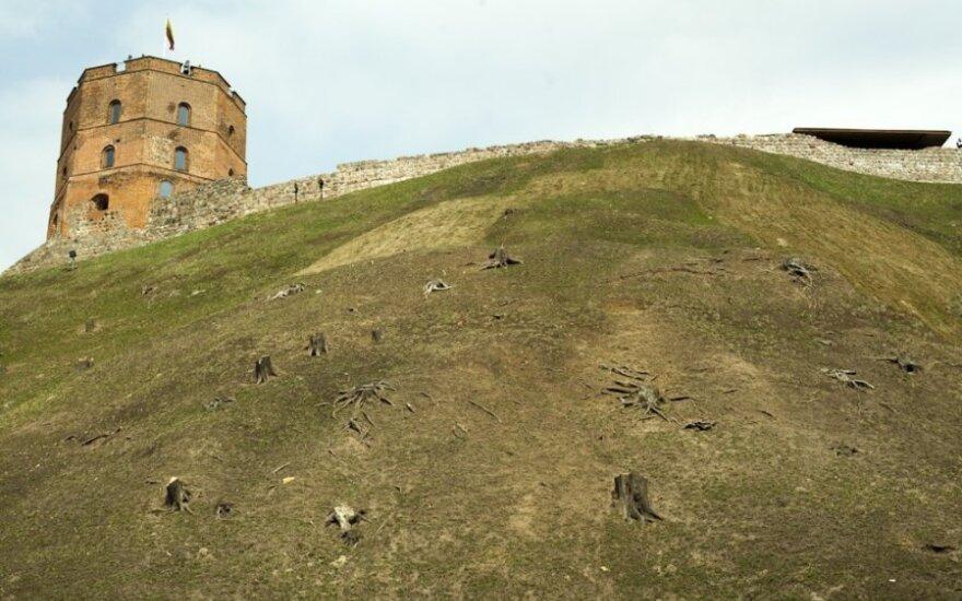 """Кардинально изменился облик символа столицы Литвы - гора """"облысела"""""""