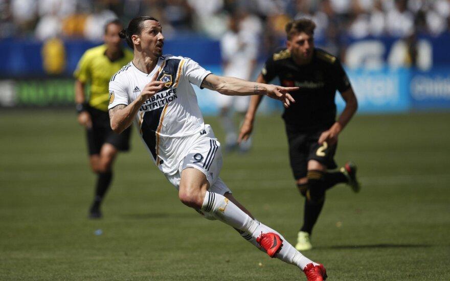"""Zlatanas Ibrahimovičius ir jo debiutas Los Andželo """"Galaxy"""""""