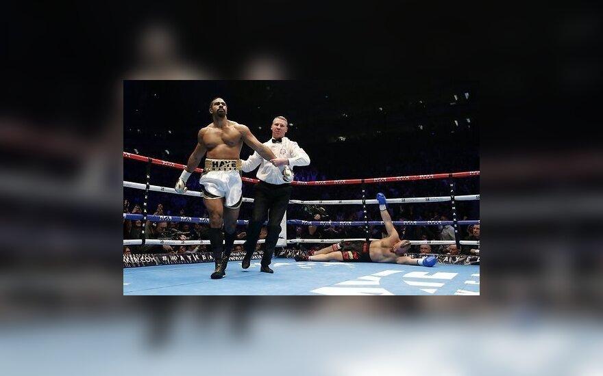 Дэвид Хэй вернулся на ринг и за 130 секунд нокаутировал соперника