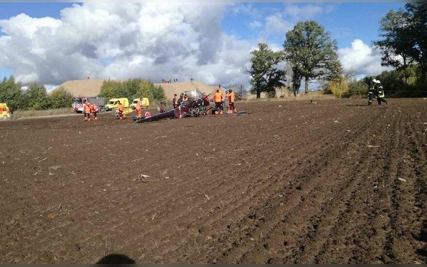 В Латвии во время авторалли упал вертолет, один человек погиб