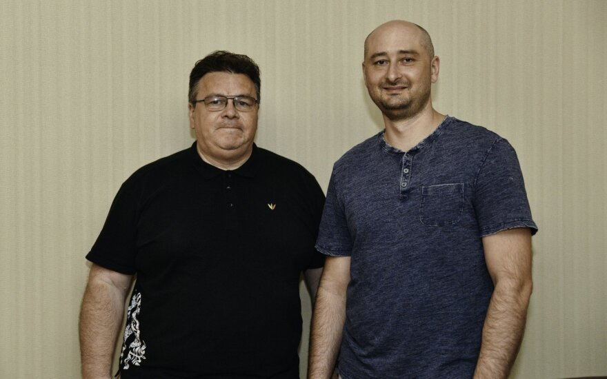 Глава МИД Литвы в Украине встретился с Бабченко