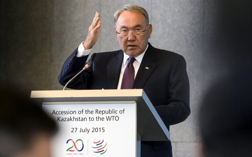 Kazachstano prezidentas Nursultanas Nazarbajevas