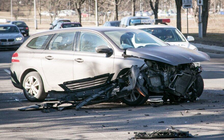 В центре Вильнюса в ДТП пострадала женщина