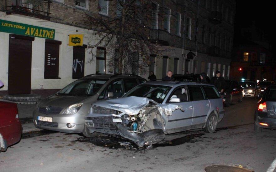 В Вильнюсе столкнулись пять автомобилей