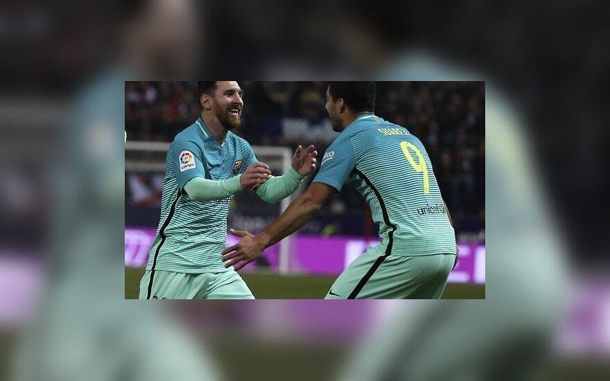 """Прекрасные голы Суареса и Месси обеспечили победу """"Барселоны"""" в Мадриде"""