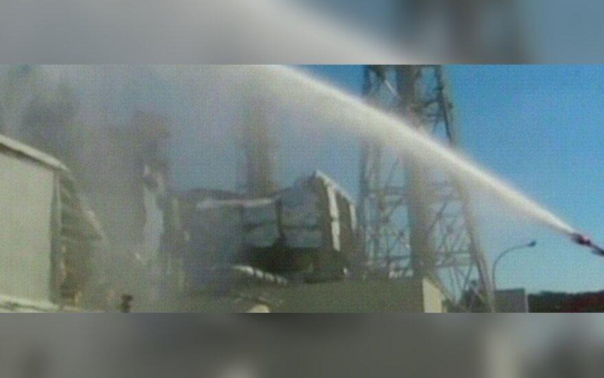 Pilamas vanduo ant Fukušimos atominės elektrinės