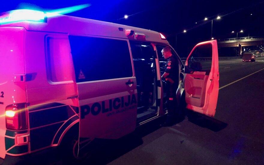 В Вильнюсе пьяный водитель взял на таран автомобиль Toyota