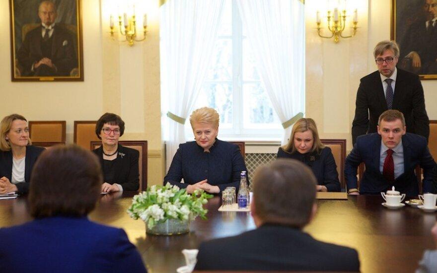 Prezidentės susitikimas su LR Seimo valdyba