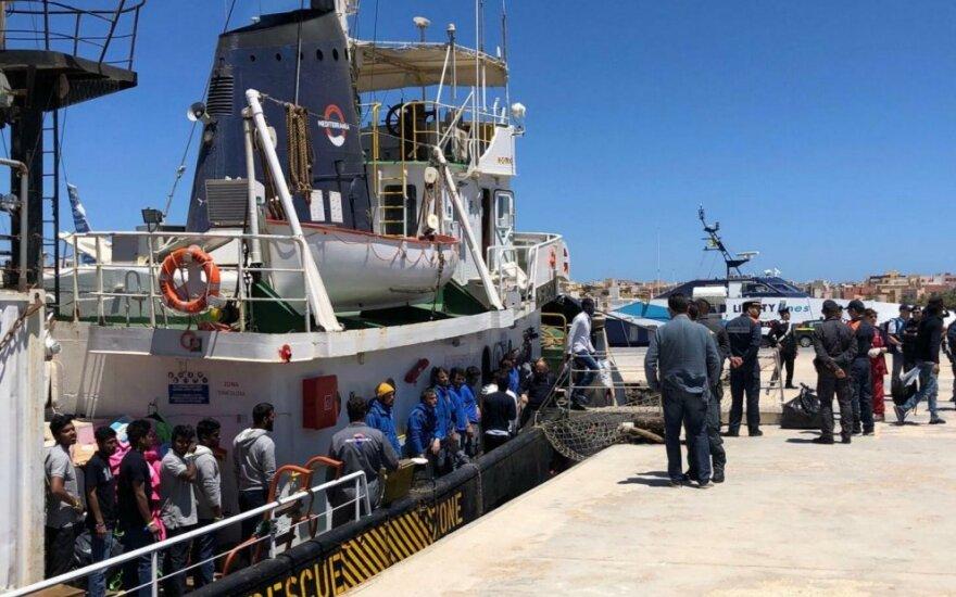 Italijos laivai prie Libijos krantų išgelbėjo 66 migrantus