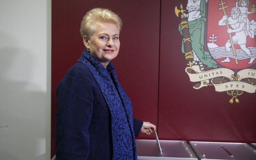 Президент Литвы на выборах мэра Вильнюса голосовала за честность и прозрачность