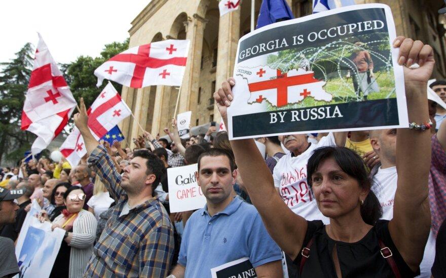 Protesto eitynės Tbilisyje