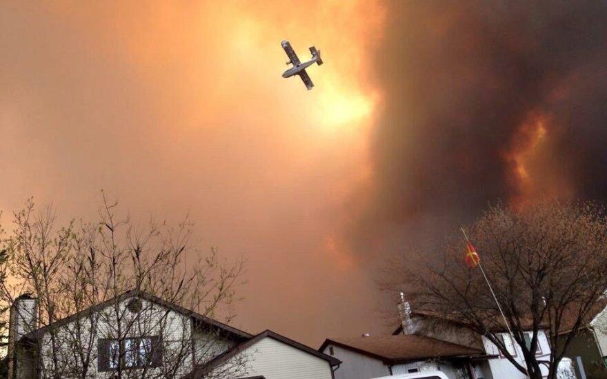 В Канаде десятки тысяч человек эвакуированы из-за лесных пожаров