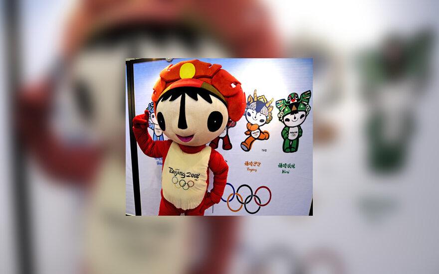 Pekino olimpiados talismanas Huanhuanas