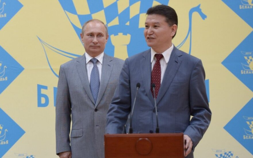 Vladimiras Putinas ir Kirsanas Iliumžinovas