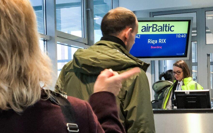 Air Baltic надеется в ближайшее время возобновить полеты из Вильнюса в Ригу и Таллин