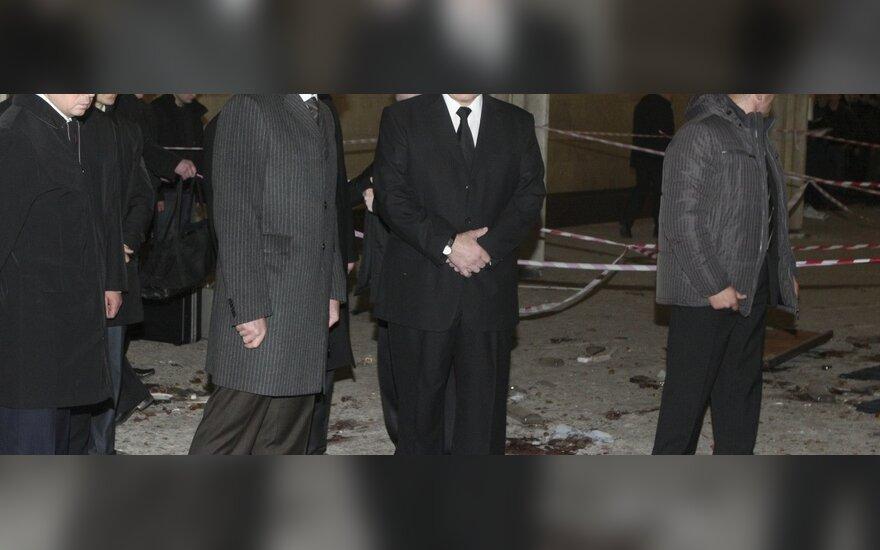 Sprogimo vietą aplankė A.Lukašenka