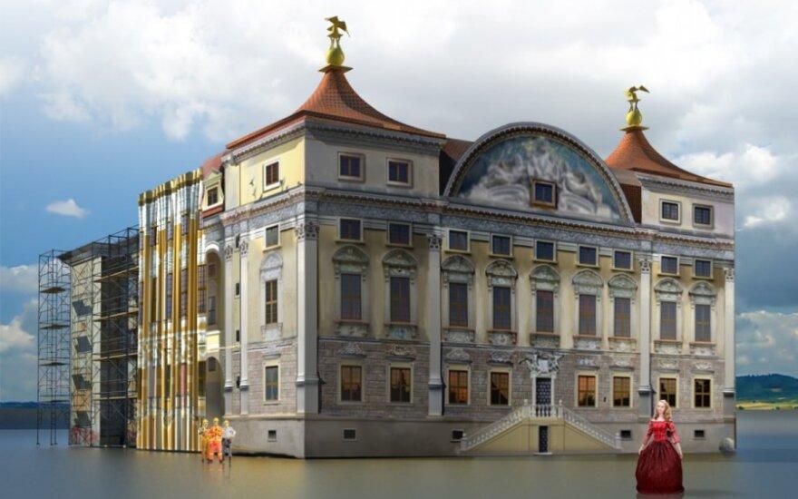 На время реставрации дворец Сапег закроют иллюзорные фасады