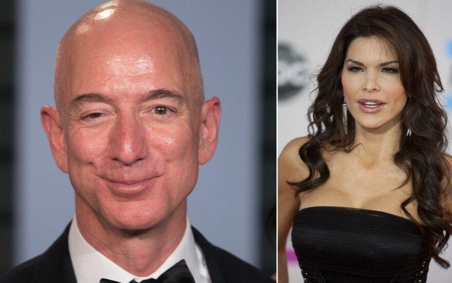 Jeff Bezos ir Lauren Sanchez