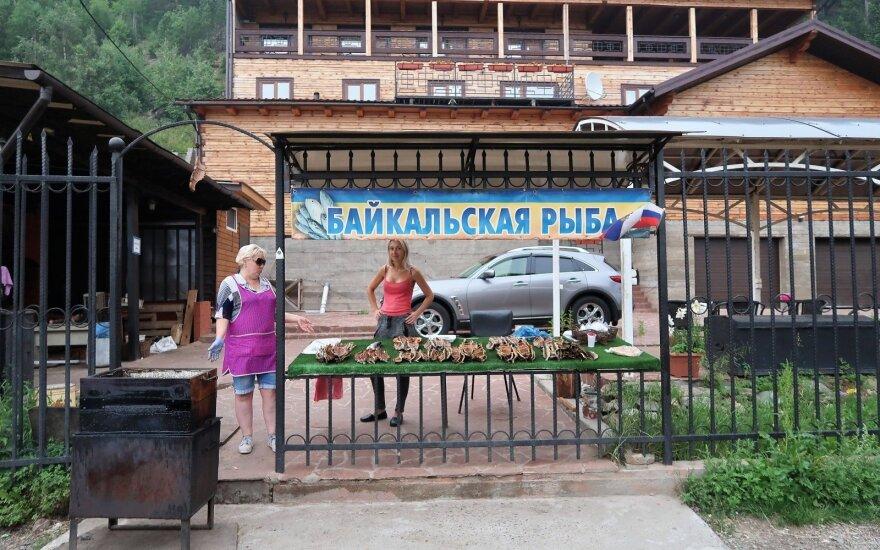 Listvianka, kurortas prie Baikalo ežero