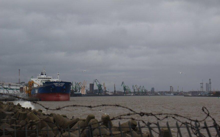 В Клайпедском порту по-прежнему ограничено судоходство