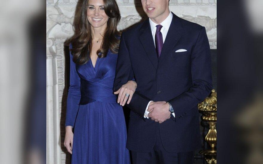 Princas Wiliamas su sužadėtine Kate Middleton