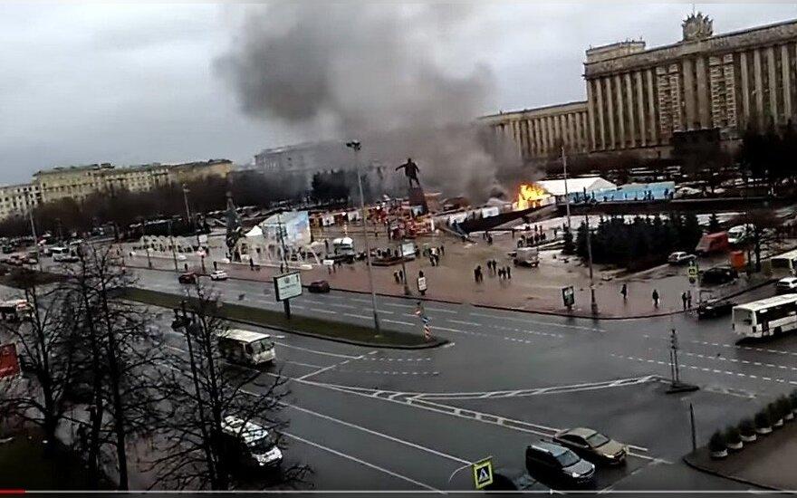 Пожар на новогодней ярмарке в Петербурге: никто не пострадал