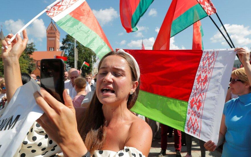 Lukašenką palaikintis protestas Minske
