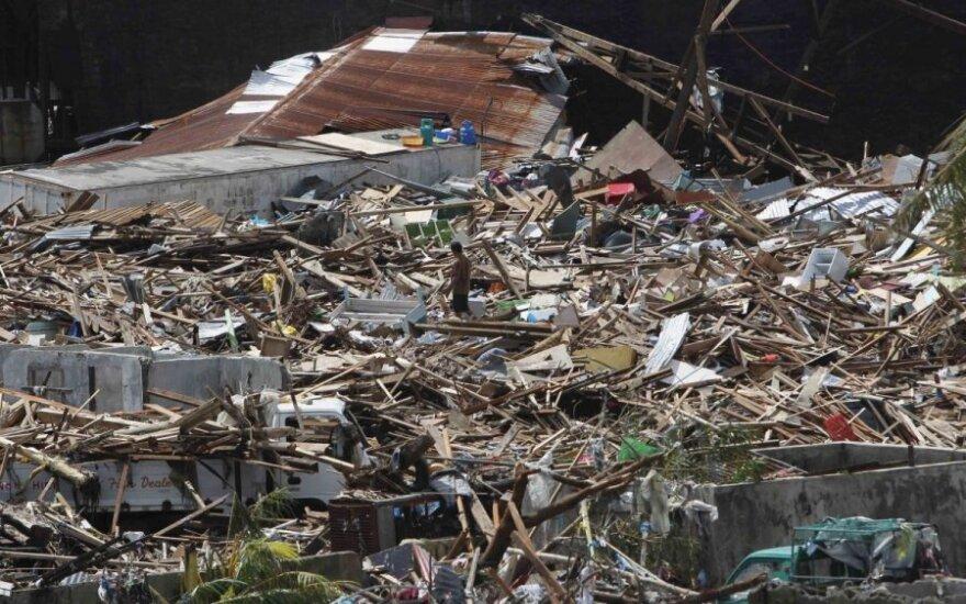 Supertaifūnas Filipinuose, nusiaubtas Taklobano miestas