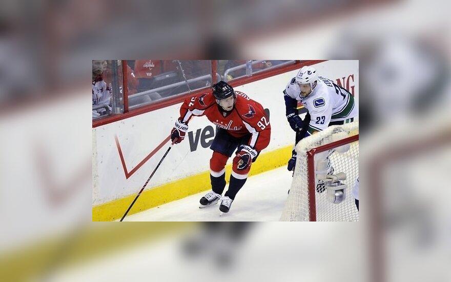 "НХЛ: Кузнецов набрал 4 очка против ""Коламбуса"", ""Чикаго"" обновил клубный рекорд"