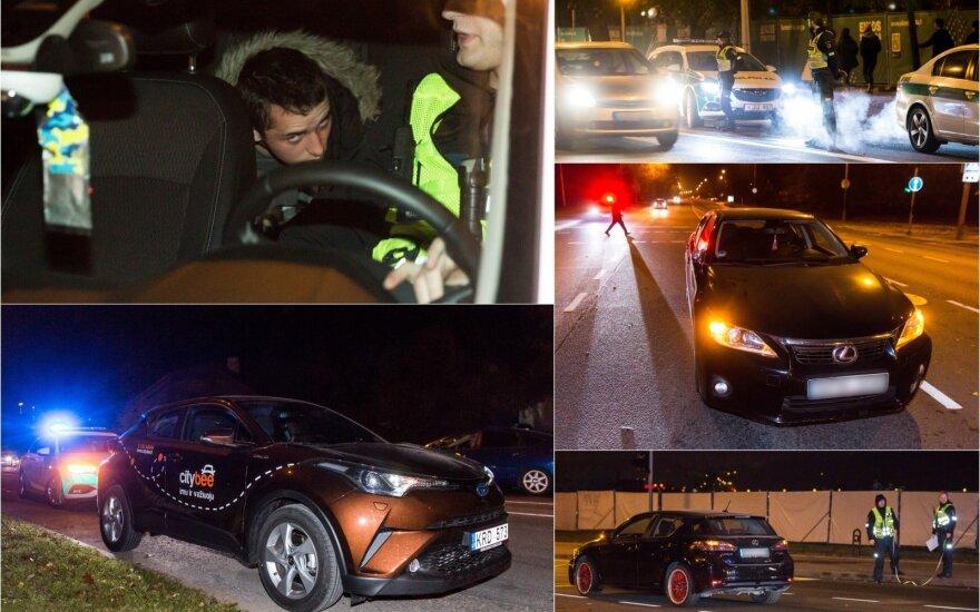 Ночной рейд в Вильнюсе: полиция преследовала водителя на CityBee