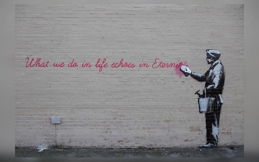 Naujas Banksy kūrinys Niujorke