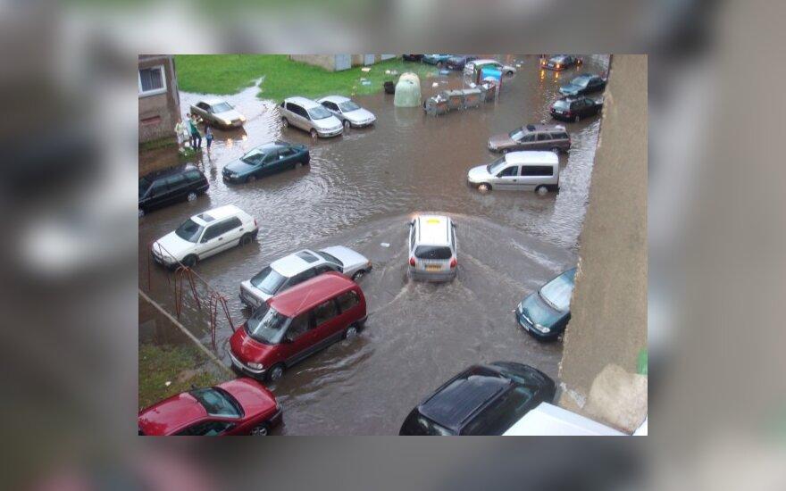 В Клайпеде снова прошел ливень