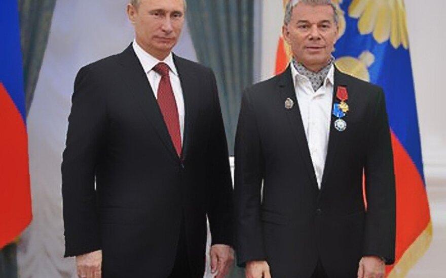 Vladimiras Putinas, Olegas Gazmanovas. eng.state.kremlin.ru nuotr.