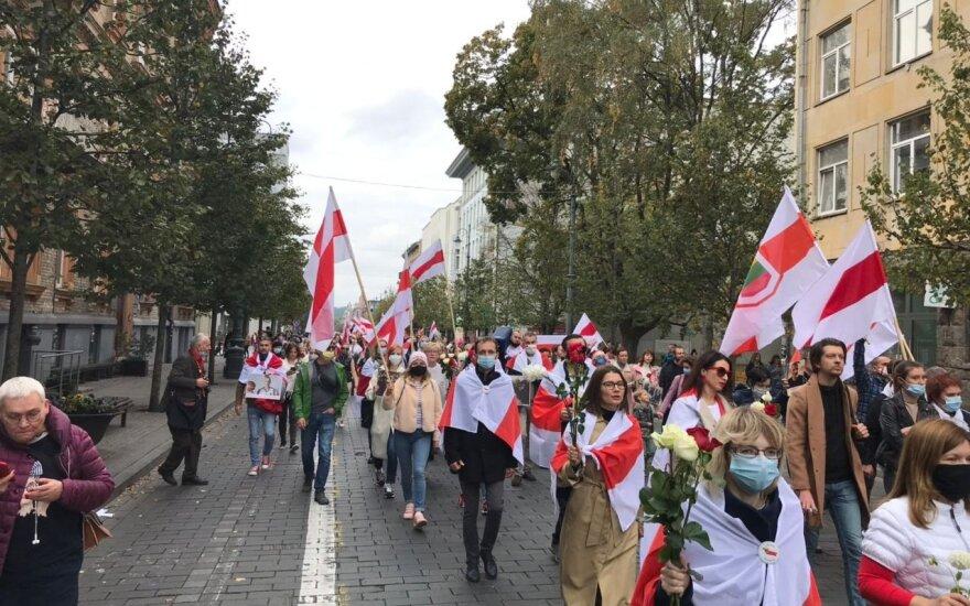 В Вильнюсе прошел женский марш солидарности