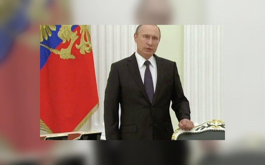 Путин выступил с телеобращением к Олланду и народу Франции