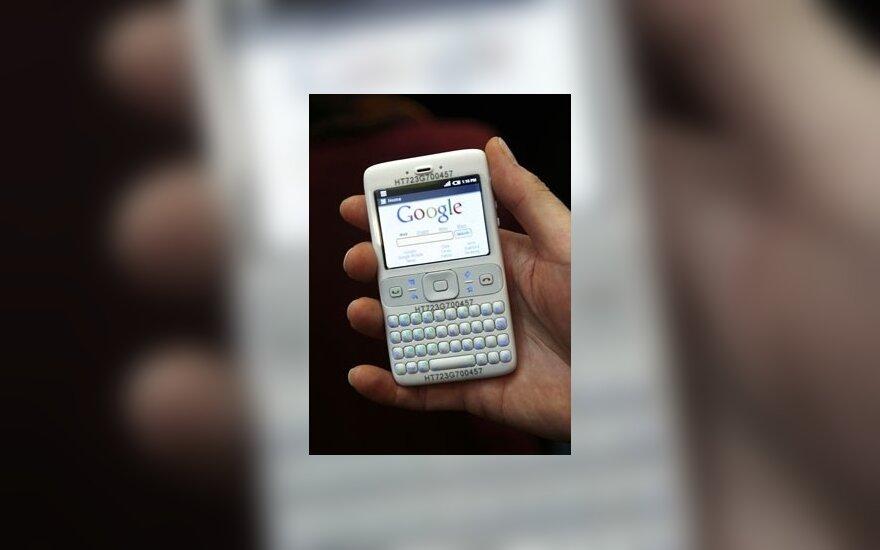 "Telefono prototipas su  ""Google Android"" programine įranga"